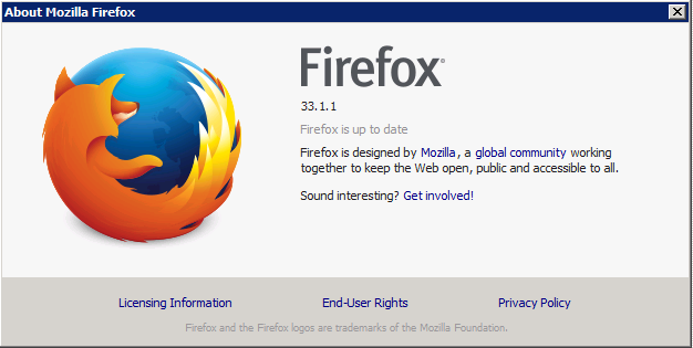 Firefox version