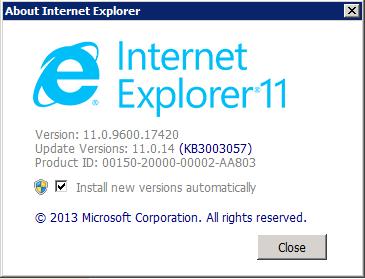 Internet Explorer Version