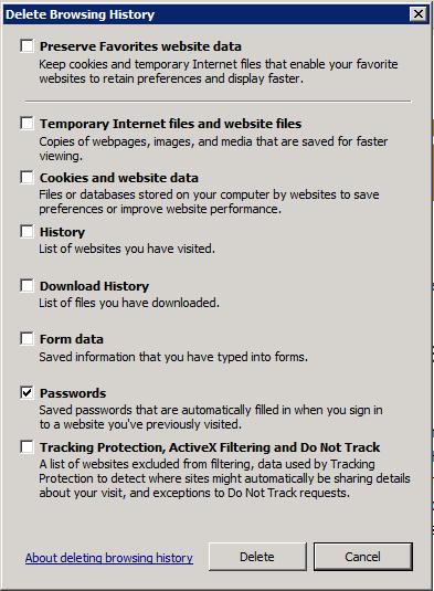 Check Passwords and Hit DELETE