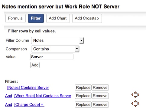 "The ""notes"" on this time entry mention ""server"", but the Work Role does NOT include the word ""Server""."
